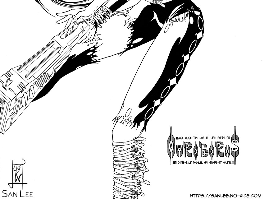 Illustration Ouroboros 01 US bottom San Lee Manga mangaka