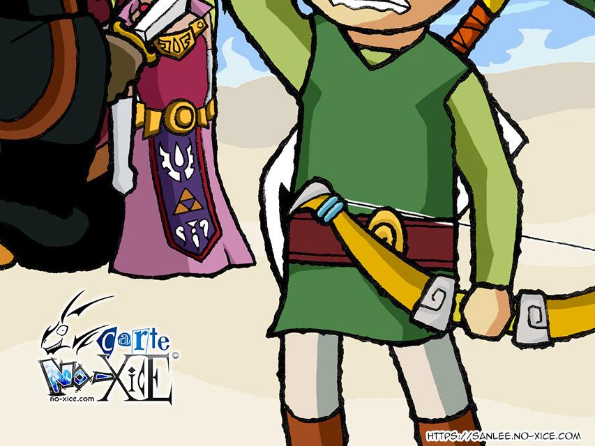 Carte No-Xice© Zelda Wind Waker US bottom San Lee Manga mangaka